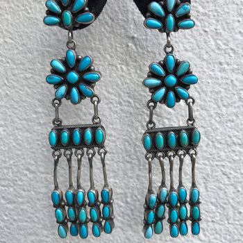 Emma Lincoln Nevada Turquoise Chandelier Earrings