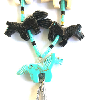 Horse power animal necklace