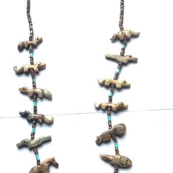 Super long power animal necklace