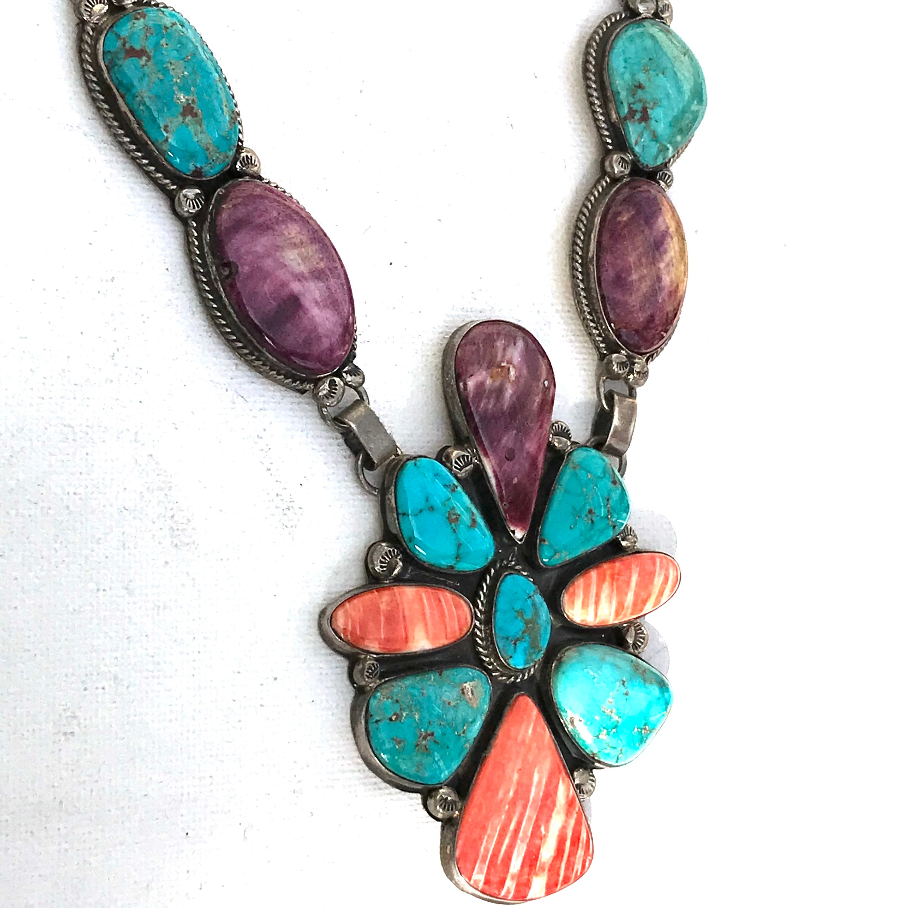 Stunning Navajo spiny turquoise necklace