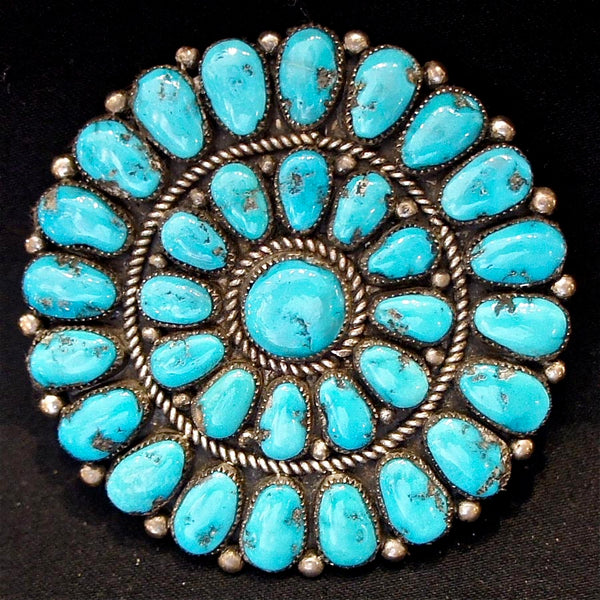 Turquoise Cluster Pin/Pendant.