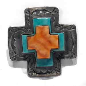 Turquoise and Spiny Cross Ring
