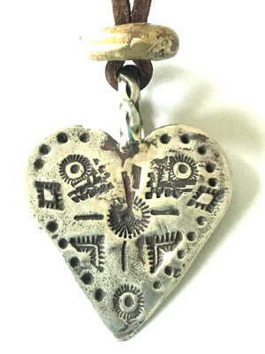 Sterling silver crow medicine heart