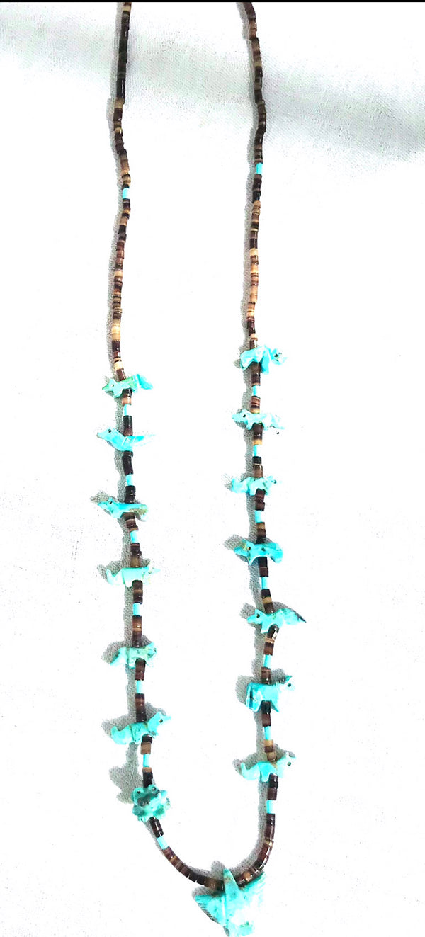 Power animal necklace  turquoise necklace