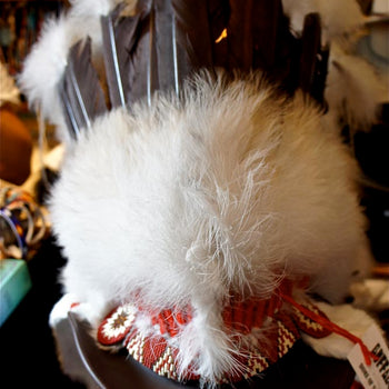 Headdress red and white