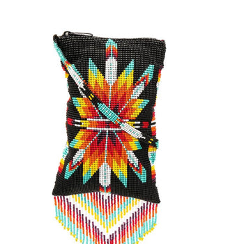 Jessie Western Black  Morning Star Beaded Crossbody Bag