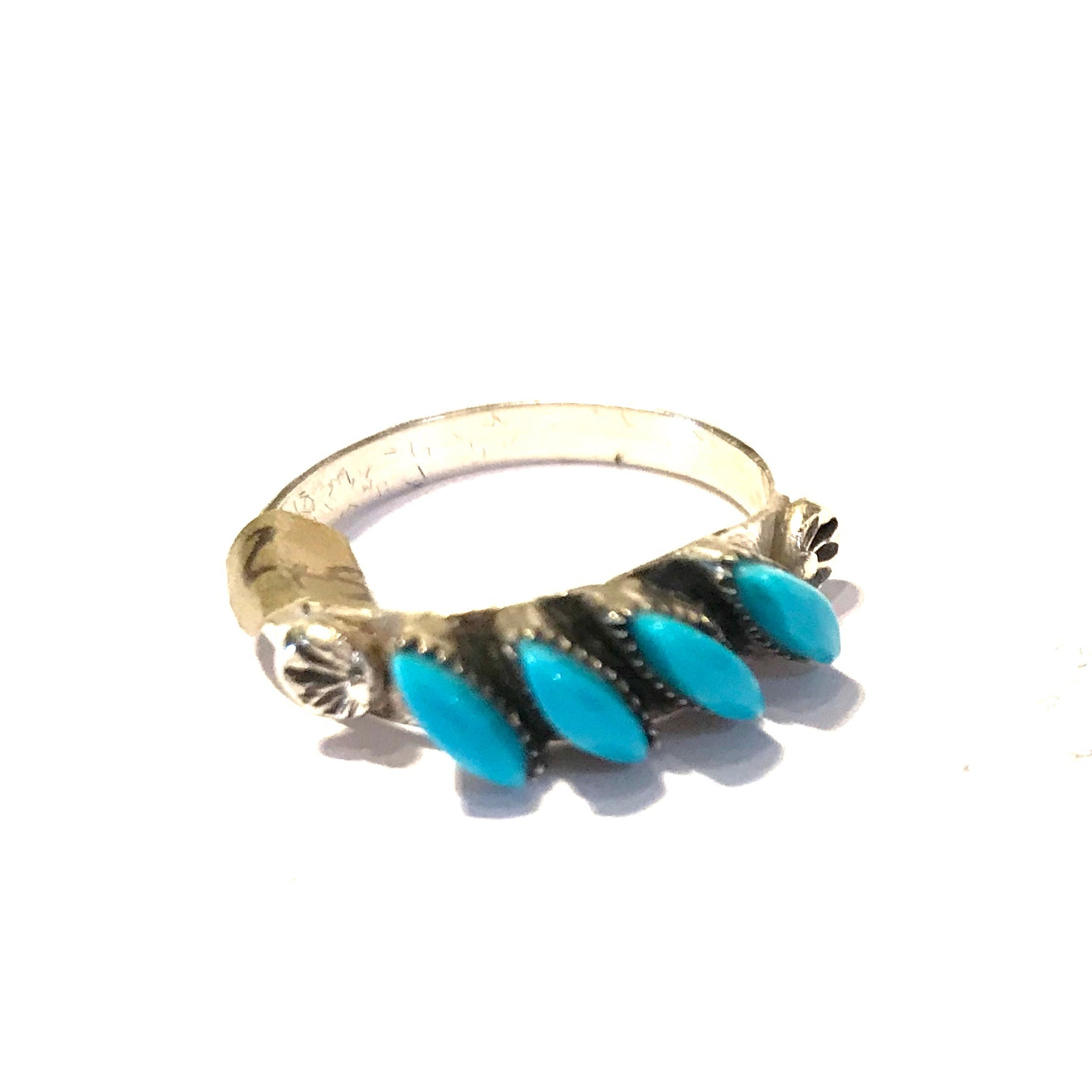 Small Zuni turquoise stacking ring