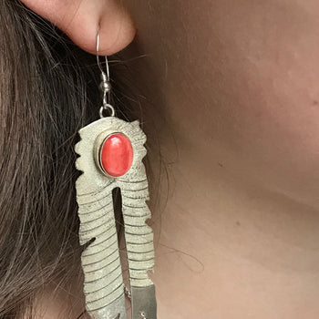 Sterling silver spiny earrings