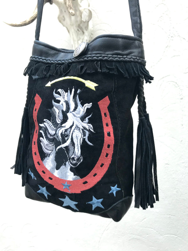 Hand embroidered bag made in Arizona