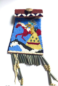 Beaded Navajo medicine bag