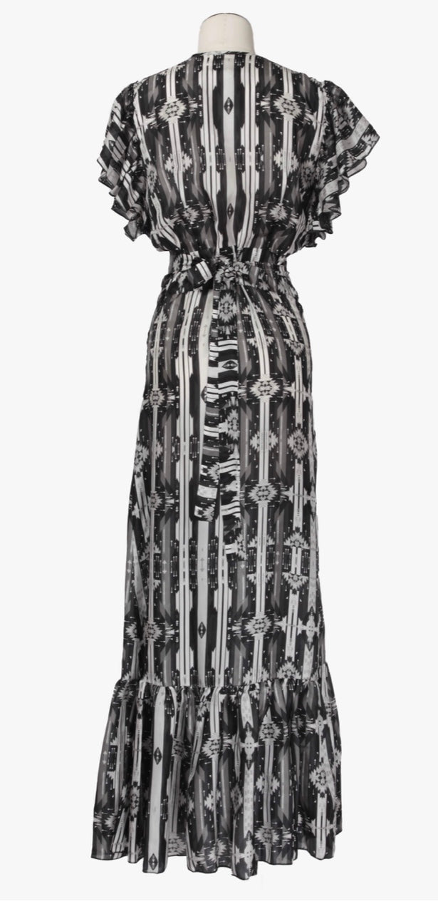 Jessie western brand black and white dress