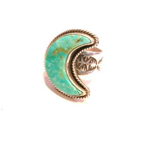 Navajo crescent  Moon Ring