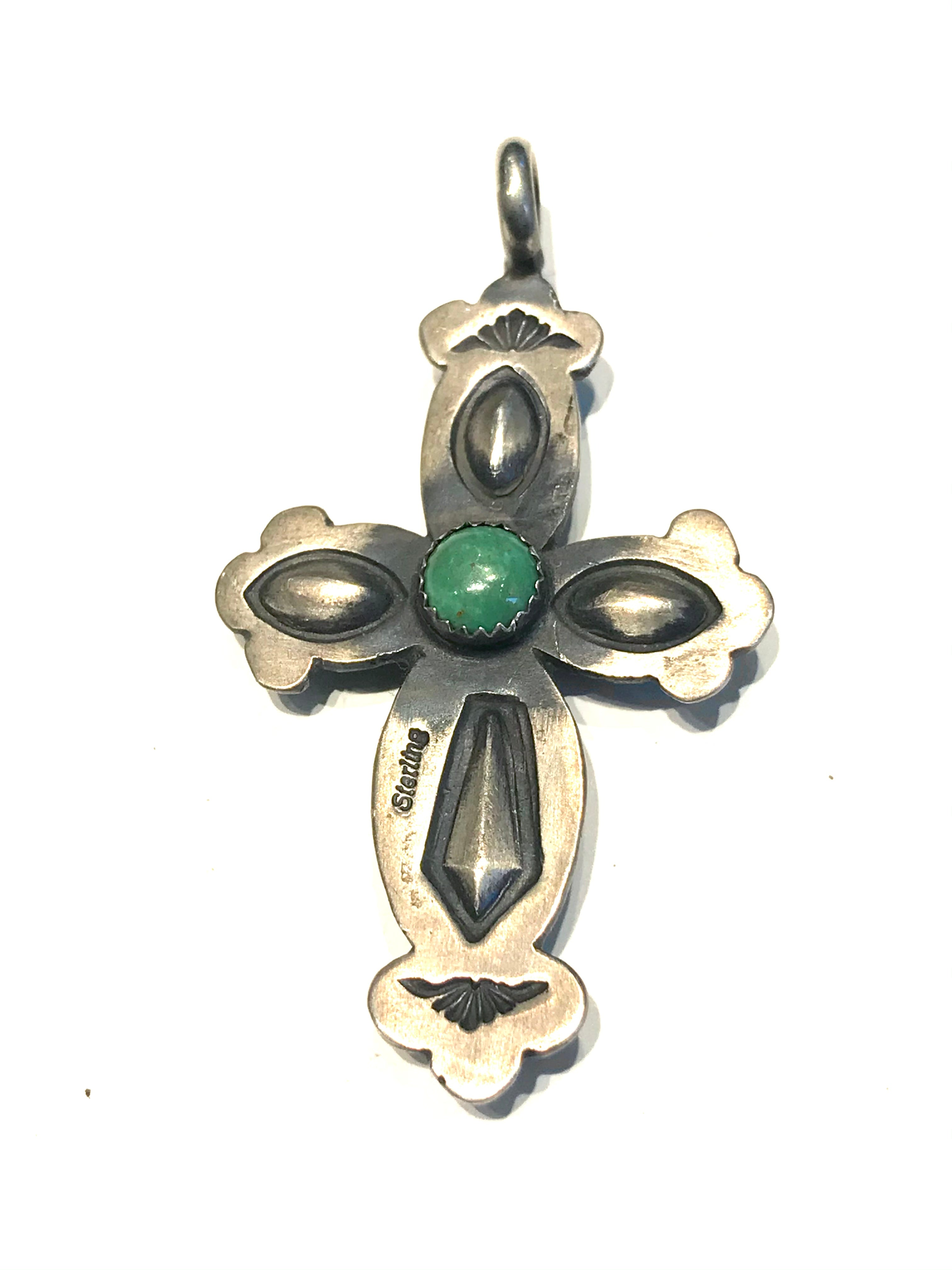 Double sided cross pendent