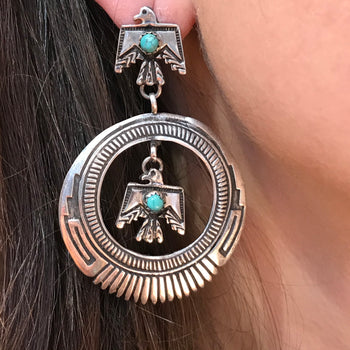 Eagle earrings Navajo