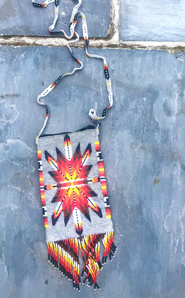 Silver beaded bag