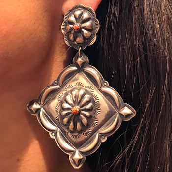 Amazing spiny super large earrings