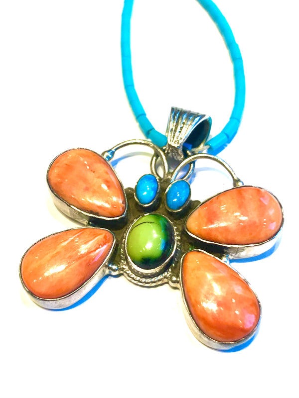 Spiny butterfly pendent ( with out turquoise strand )