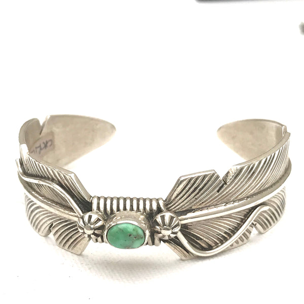 Feather bracelet sterling silver