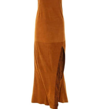 Dress Jessie Western  Suede long dress