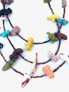 Three strand large long special edition power animal power animal necklace