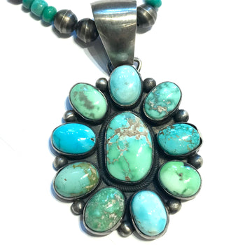 Stunning Rare emerald turquoise  pendent