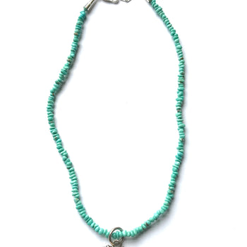 Turquoise & spiny heart necklace
