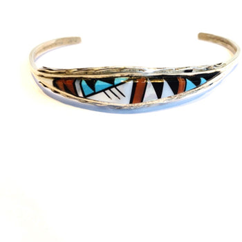 Zuni Multi Stone Inlay Bracelet