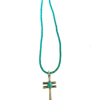 Unusual dragonfly/ cross pendent