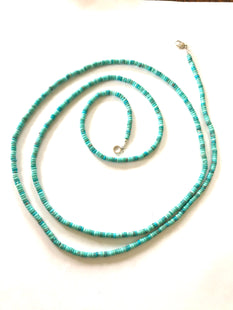 Amazing long turquoise necklace