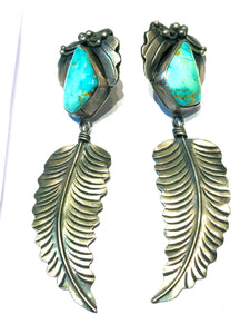Large feather earring Navajo