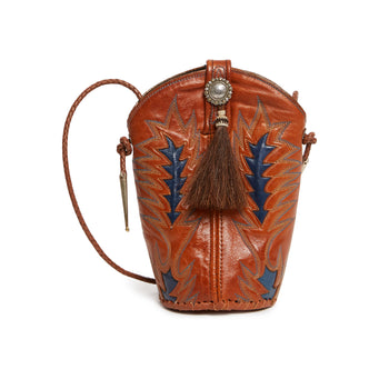 Jessie Western Indigo Arrow Boot Bag