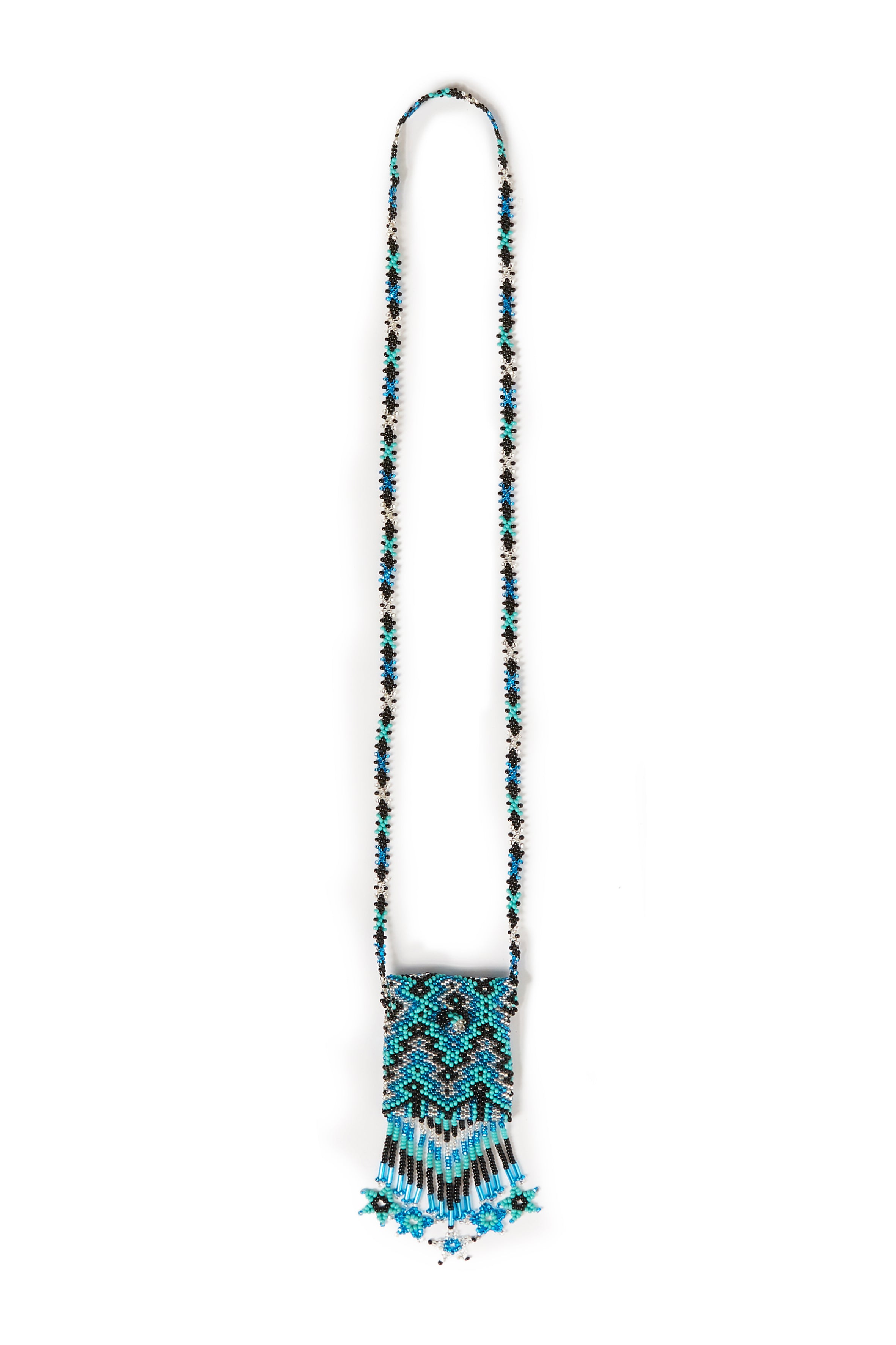Jessie Western Hand Beaded Turquoise Medicine Pouch