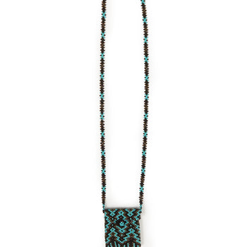 Jessie Western Beaded Medicine Pouch Necklace