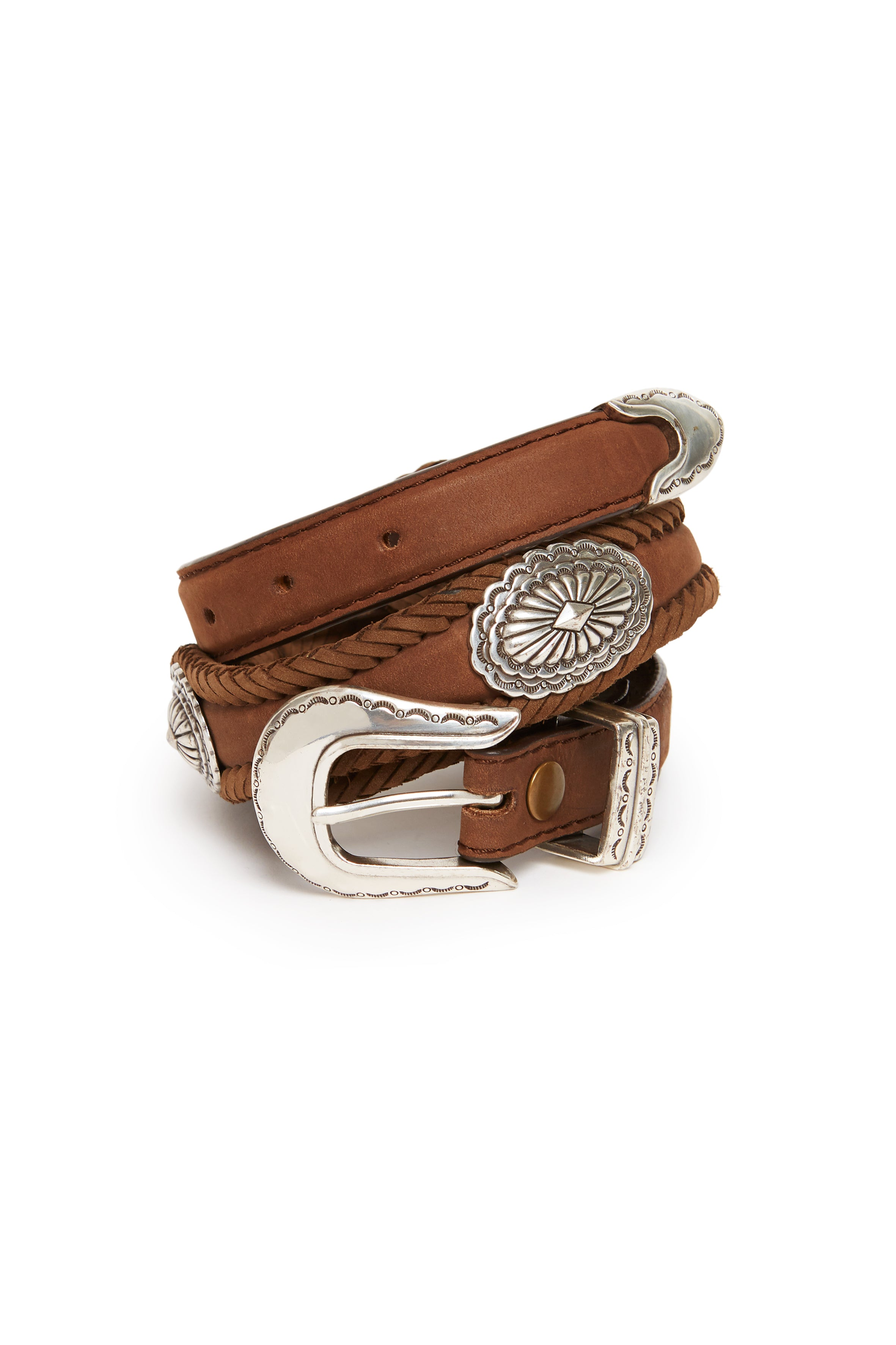 brown belt with conchos  Jessie Western brand