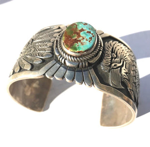 Eagle Dancer Teal Turquoise Bracelet