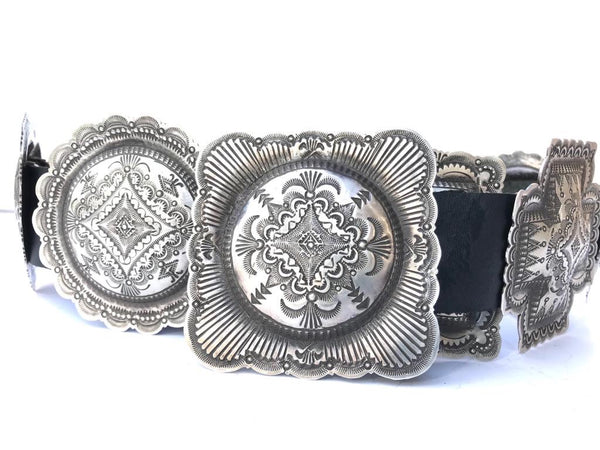 Heart four directions medicine Sterling Silver Concho Belt