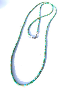 Long Hand Drilled Emerald Turquoise Strand