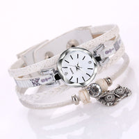 Fashion Women's Bracelet Watch, Unique Round Case Stainless Steel Rhinestone Bracelet Belt, Quartz Wrist Watch Gift for Women