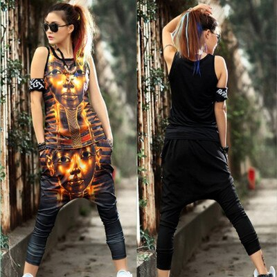 Summer Women 2 Piece Sets TShirt+Trousers Ladies Loose Casual Suits ONeck TShirt Casual Pants Wq419