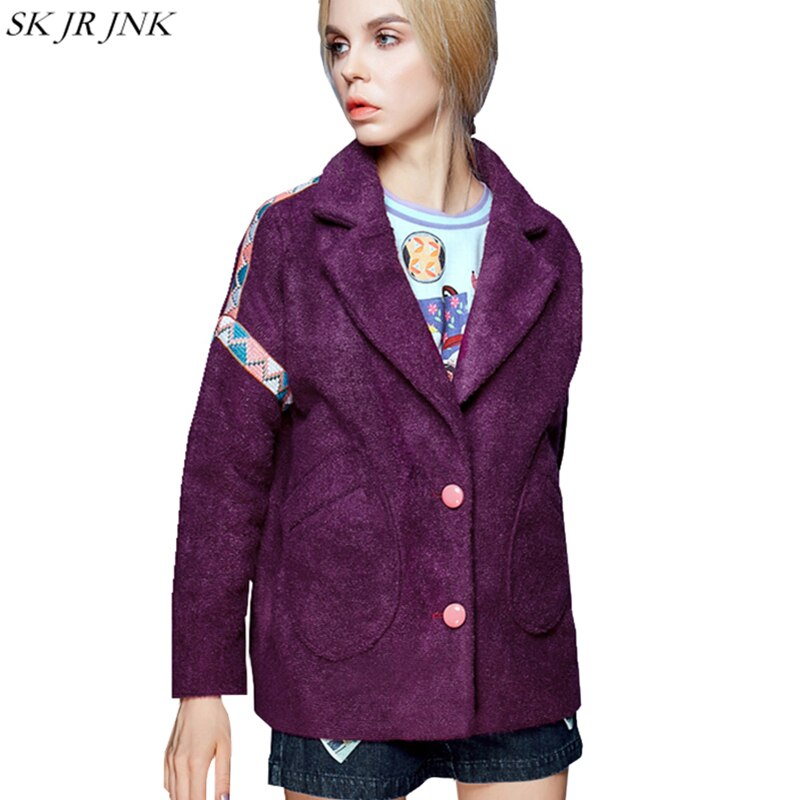 Winter Women Wool Blend Coat Long Trench Outwear Woolen Coat Blazer Cashmere Warm Suit Collar Jacket Gjl12
