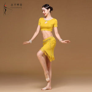 Women Dancewear Professional Belly Dance Costume Set Modal Top Skirt Belly Dance Outfits