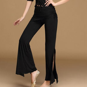 Belly Dance Clothing Women Dancewear Cotton Pants Comfortable Side Split Flare Trousers Bellydance