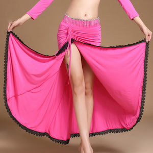 Belly Dancing Clothes Professional Long Skirts Wrapped Skirt Women Belly Dance Skirts Without Belt