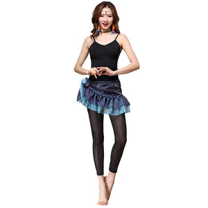 Women Belly Dance Clothing Training Costume Accessories Modal Outfits Bodysuit Set 3 Pieces Top+Hip Scarf+Tights