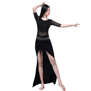 Women Dancewear Belly Dance Clothes Modal Outfit OnePiece Dresses Practice Costume Set Bellydance Dress