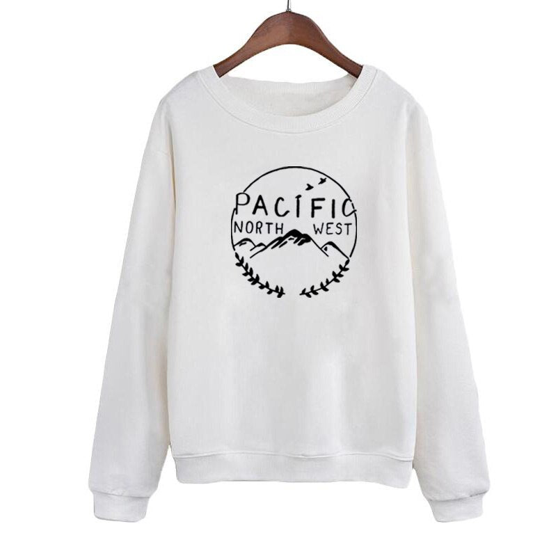 Autumn Winter Sweatshirt Hoodies Clothing North West Pacific Outdoor Travel Harajuku Printing Pullovers