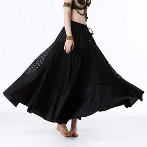 Women Dancewear Belly Dance Clothing Long Maxi Full Circle Split Joint Skirts Tribal Dance Gypsy Trumpet Skirt