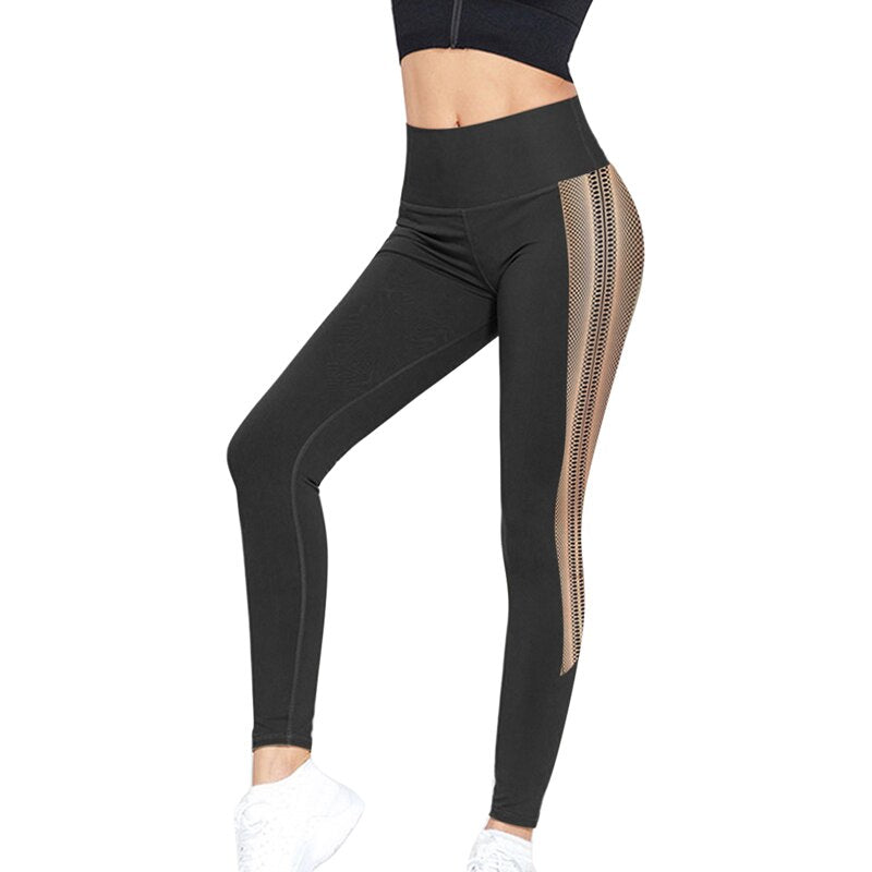 Women Yoga Pants High Waist Print Fitness Sport Legging Push Up Workout Gym Sportwear Compression Running Tight