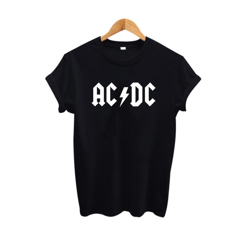 Black White Colors TShirt Women Letter Print T Shirt Women Tops Casual Tee Shirt Femme Woman Clothing