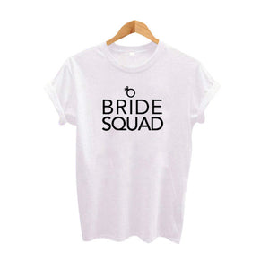 Bride Squad Women Hipster Tops Hipster Harajuku Graphic Tee Shirt Women Wedding T Shirt Best Wife Gift